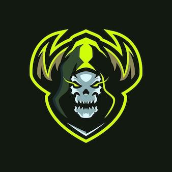 Logo skull shaman esports