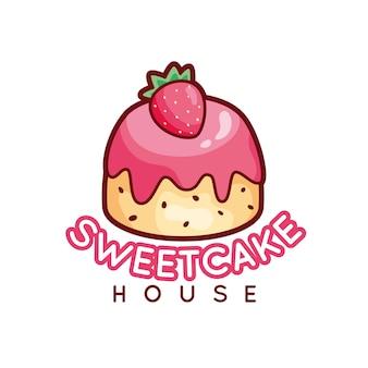 Logo słodkie ciasto piekarni