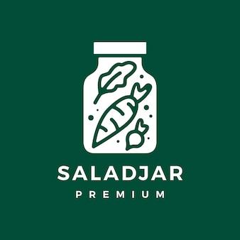 Logo słoika sałatki