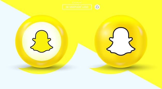 Logo snapchata w okrągłych logo mediów społecznościowych w nowoczesnym stylu