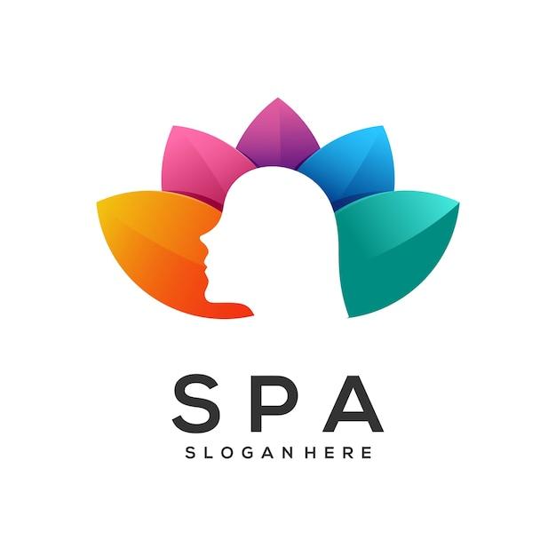 Logo spa w kolorze gradientu