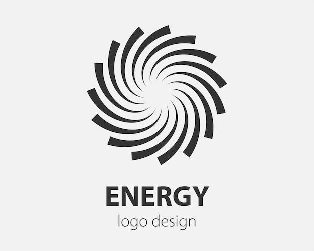 Logo spiralne i ruch wirowy. wektor skręcanie kręgów element projektu dla firmy.