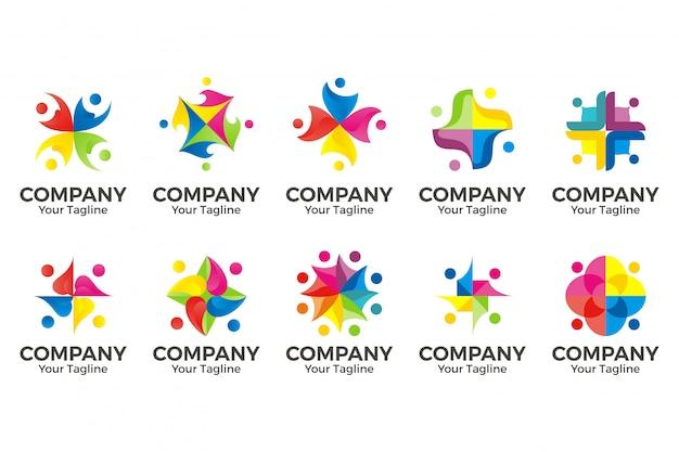 Logo społeczności ludzi.