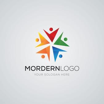Logo społeczności wektor premium