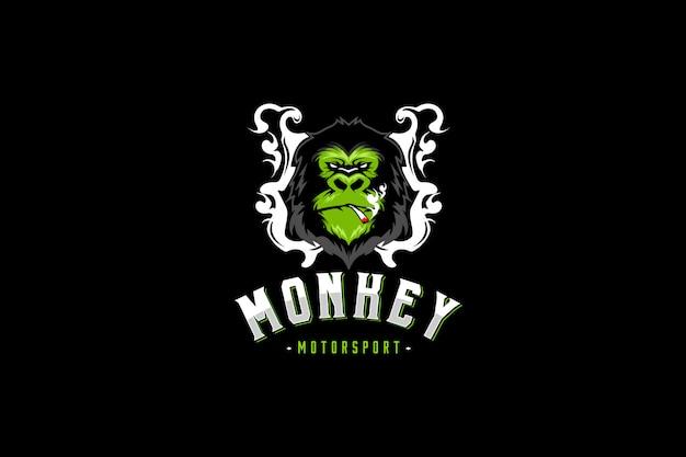 Logo sportów motorowych monkey smoke