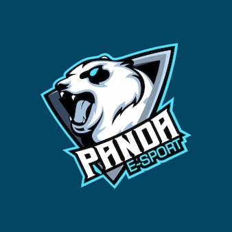 Logo sportowe bear panda e, maskotka zespołu do gier