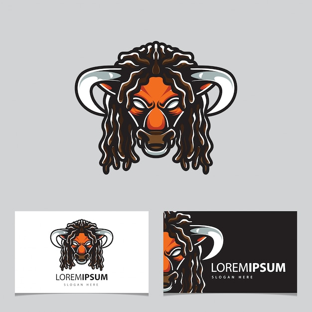 Logo sportowe bulls head e.