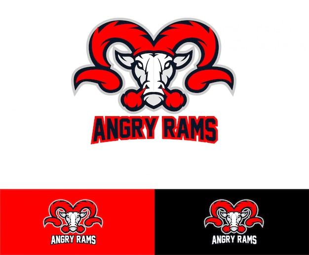 Logo sportowe głowy kozła barana