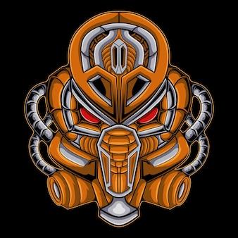 Logo sportowe głowy robota