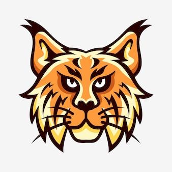 Logo sportowe maskotka głowy lynx