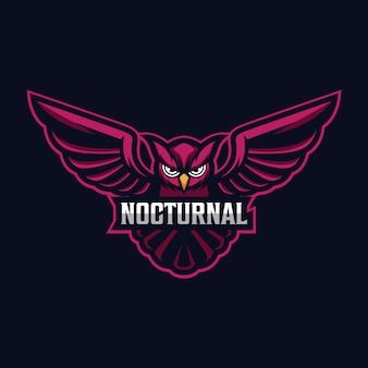 Logo sportowe maskotka sowa
