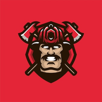 Logo sportowe maskotki głowicy maskotki