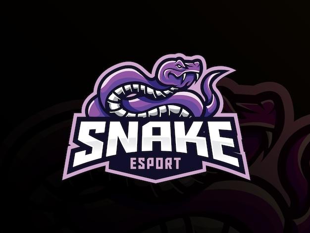Logo sportowe maskotki węża