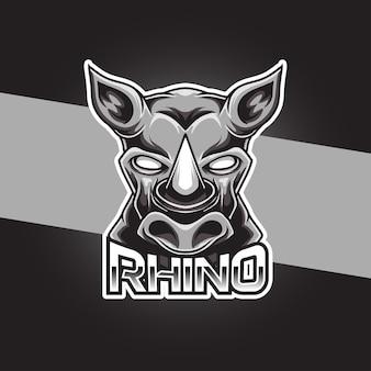 Logo sportowe nosorożca