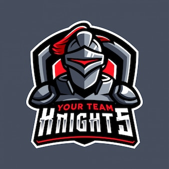 Logo sportowe rycerza