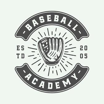 Logo sportowe w stylu vintage baseball