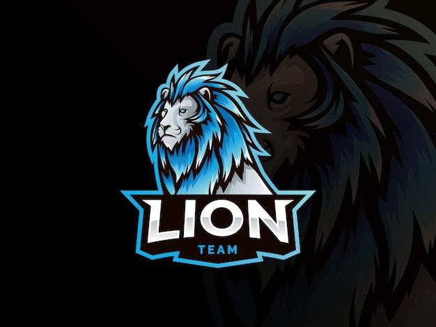Logo sportowego stylu maskotki lwa