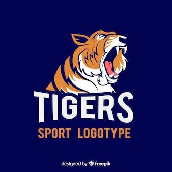 Logo sportowego tygrysa