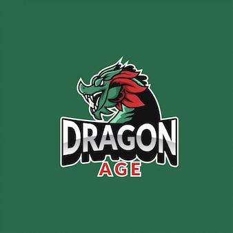 Logo sportowego wieku dragon