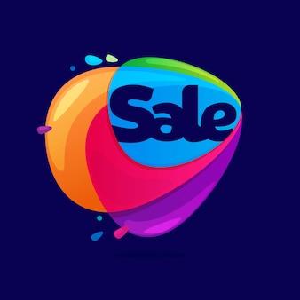 Logo sprzedaży w ikonę przecięcia trójkąta.