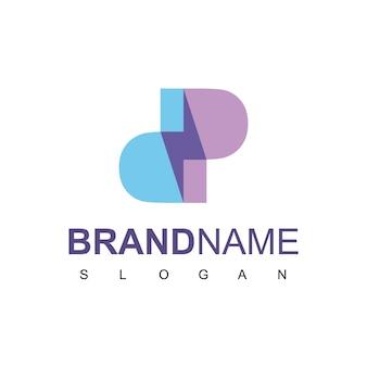 Logo śruby z symbolem litery d i p
