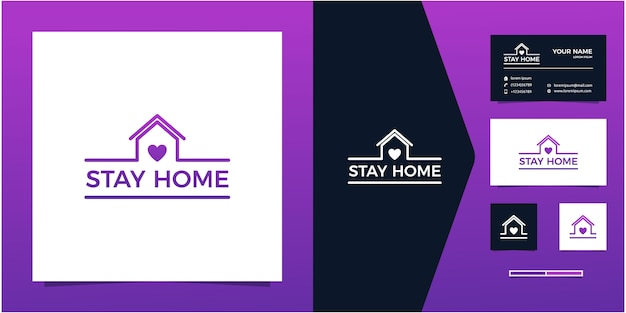 Logo stay at home