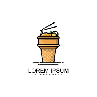 Logo stożka z makaronem