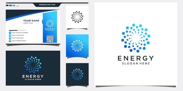Logo streszczenie energii w stylu kropki