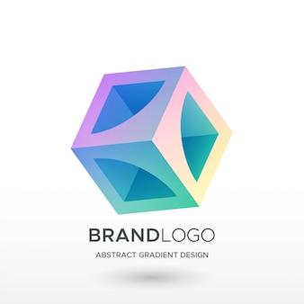 Logo streszczenie gradientu squre