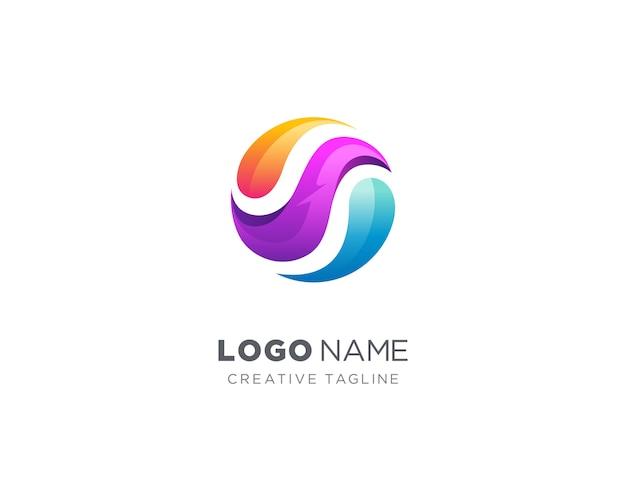 Logo streszczenie kolorowe koło