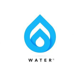 Logo streszczenie kropli wody