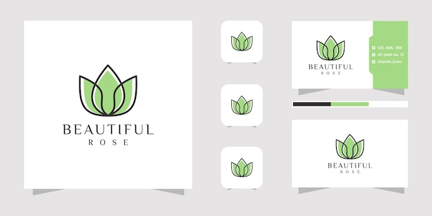 Logo streszczenie kwiat