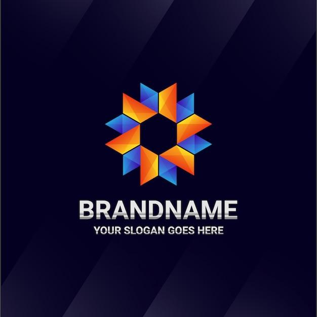 Logo streszczenie logo origami