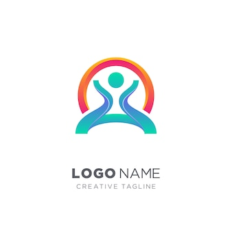 Logo streszczenie ludzi