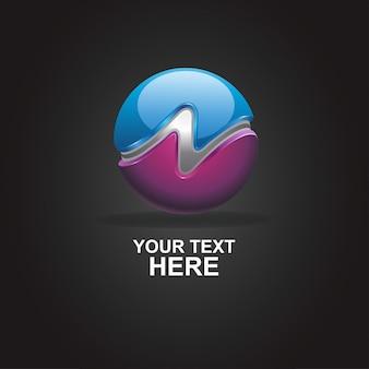 Logo streszczenie n 3d