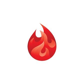 Logo streszczenie płomień ognia