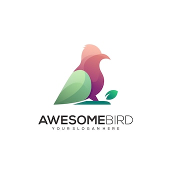 Logo streszczenie ptak kolorowa ilustracja