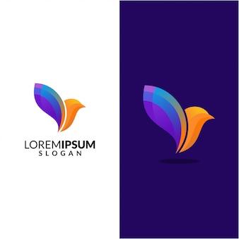 Logo streszczenie ptak