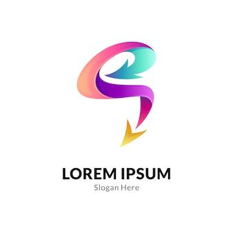 Logo strzałki litery s.
