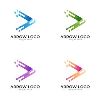 Logo strzałki z wariacją kolorów