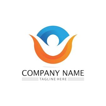 Logo sukcesu dla ludzi, marka pracy zespołowej i logo firmy, społeczność wektorowa, jedność kolorowa i przyjaźń, logo opieki partnerskiej w pracy zespołowej