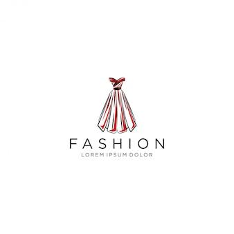 Logo sukienki, luksusowa suknia