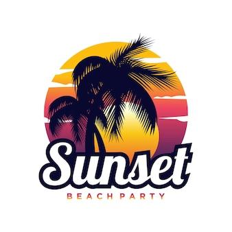 Logo summer beach