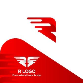 Logo super fast r letter