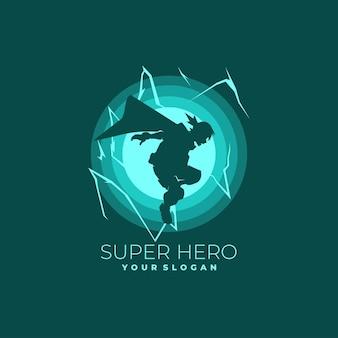 Logo superbohatera w ciemnym stylu