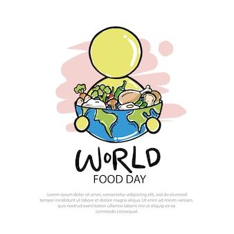 Logo światowego dnia jedzenia ilustracja
