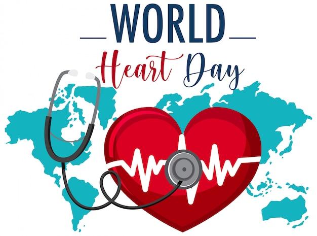 Logo światowego dnia serca