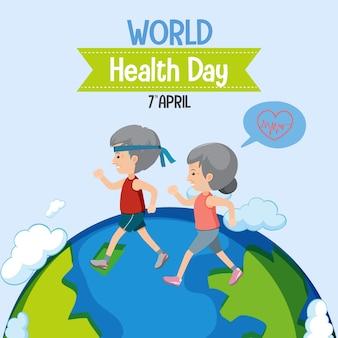 Logo światowego dnia zdrowia