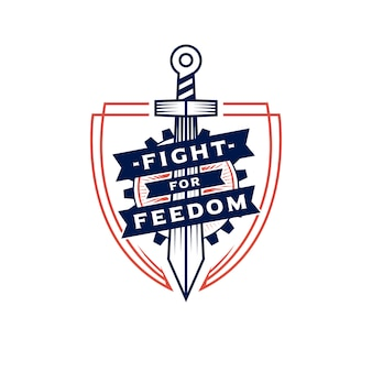 Logo sword of freedom