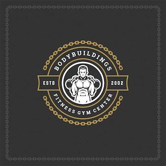 Logo sylwetka człowieka kulturysta